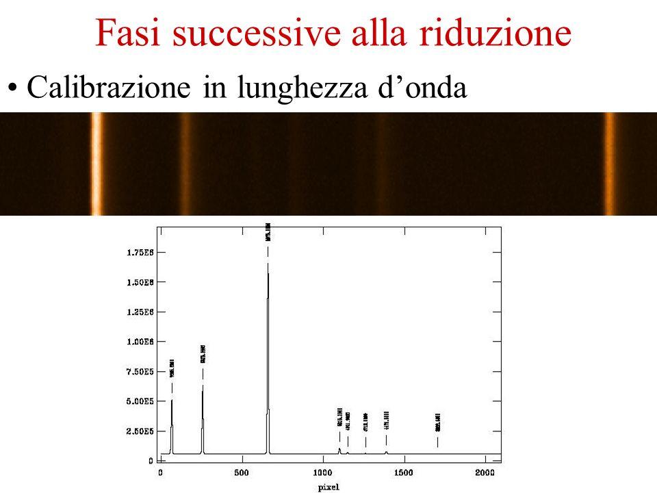 Effetti strumentali Divisione per il flat field Riduzione degli spettri Sottrazione del bias