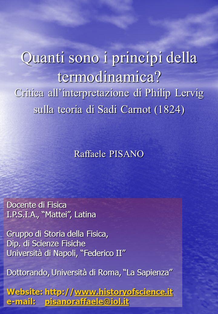 Pisano Raffaele www.historyofscience.it2 Struttura del lavoro 1.