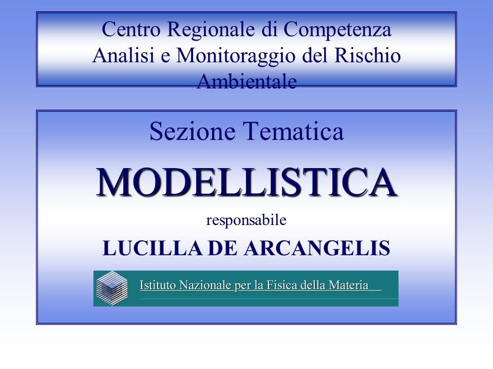 Centro Regionale di Competenza Analisi e Monitoraggio del Rischio Ambientale Sezione TematicaMODELLISTICA responsabile LUCILLA DE ARCANGELIS
