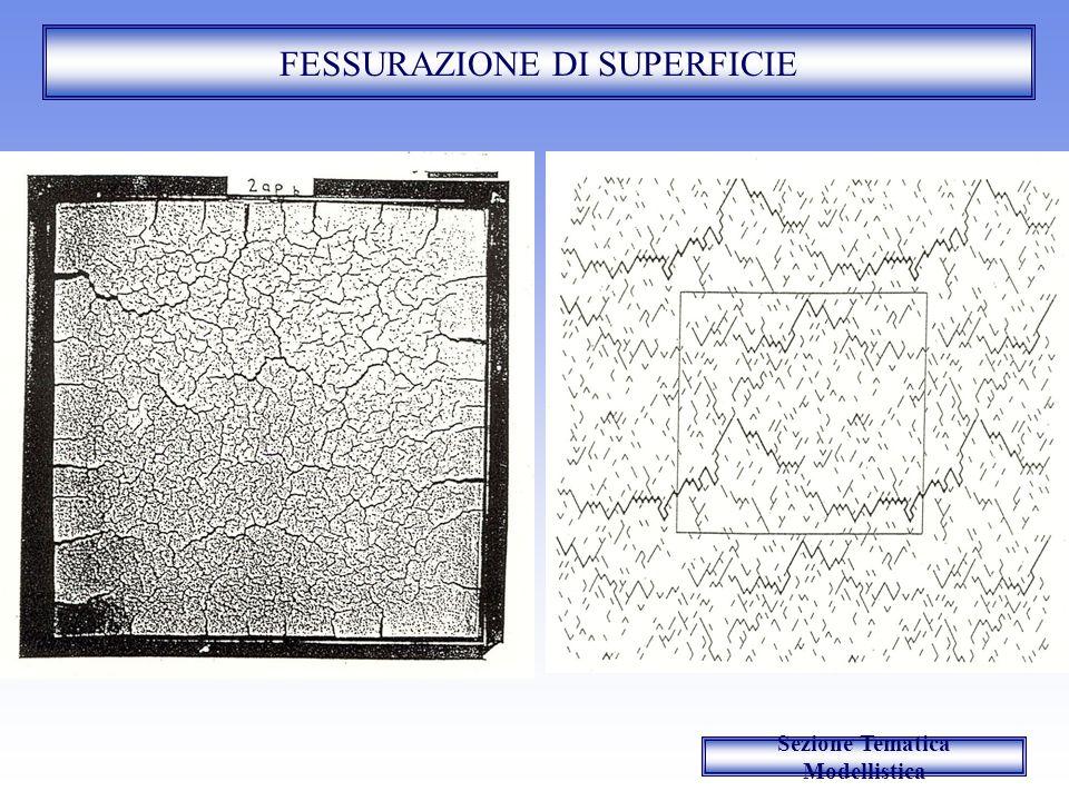 FESSURAZIONE DI SUPERFICIE Sezione Tematica Modellistica