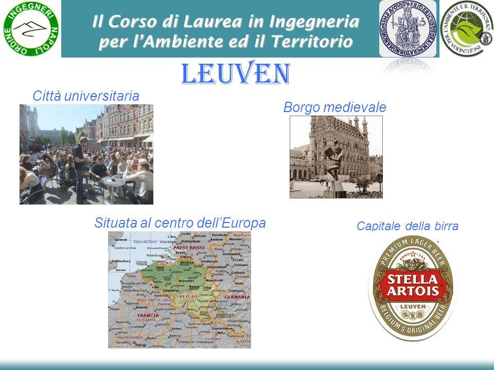 Il Corso di Laurea in Ingegneria per lAmbiente ed il Territorio Leuven Città universitaria Capitale della birra Borgo medievale Situata al centro dell