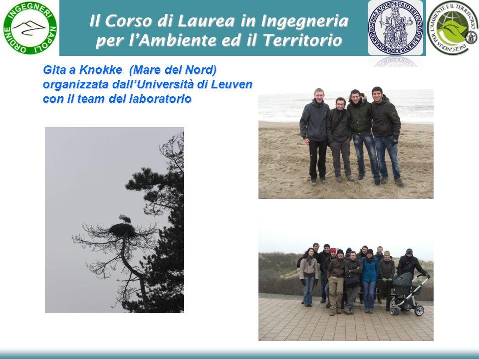 Il Corso di Laurea in Ingegneria per lAmbiente ed il Territorio Gita a Knokke (Mare del Nord) organizzata dallUniversità di Leuven con il team del lab