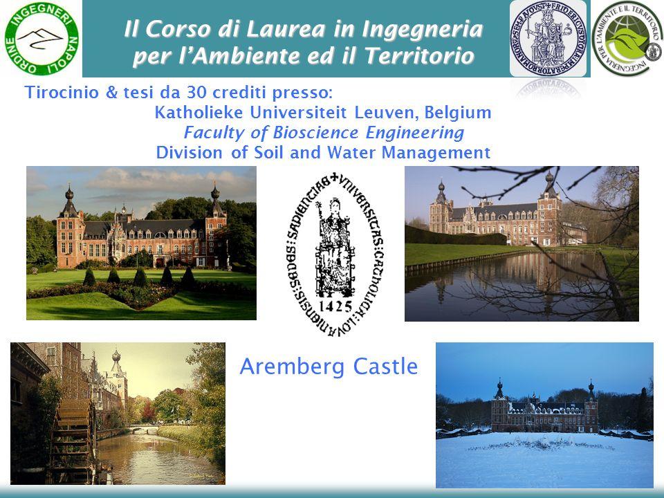 Il Corso di Laurea in Ingegneria per lAmbiente ed il Territorio Aremberg Castle Katholieke Universiteit Leuven, Belgium Faculty of Bioscience Engineer