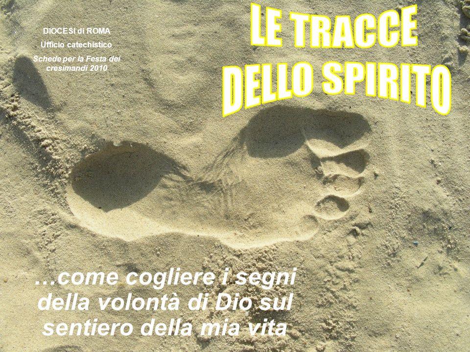 …come cogliere i segni della volontà di Dio sul sentiero della mia vita DIOCESI di ROMA Ufficio catechistico Schede per la Festa dei cresimandi 2010
