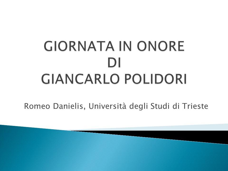 Romeo Danielis, Università degli Studi di Trieste