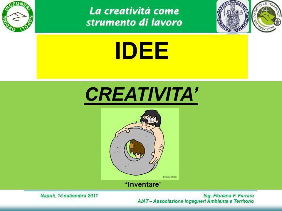 La creatività come strumento di lavoro Napoli, 15 settembre 2011 Ing.