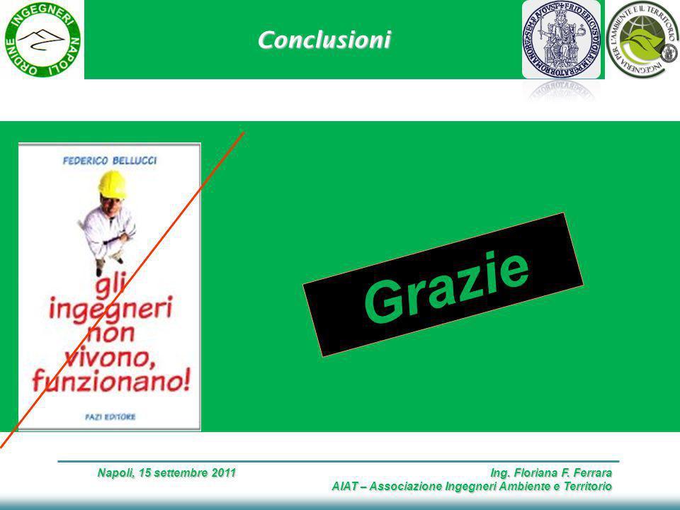 Conclusioni Napoli, 15 settembre 2011 Ing. Floriana F.