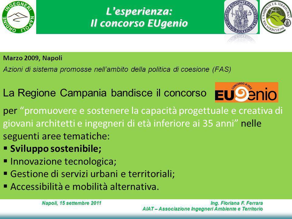 Lesperienza: Il concorso EUgenio Napoli, 15 settembre 2011 Ing.