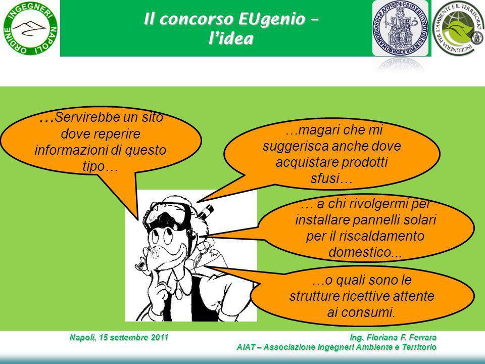 Il concorso EUgenio – lidea Napoli, 15 settembre 2011 Ing.