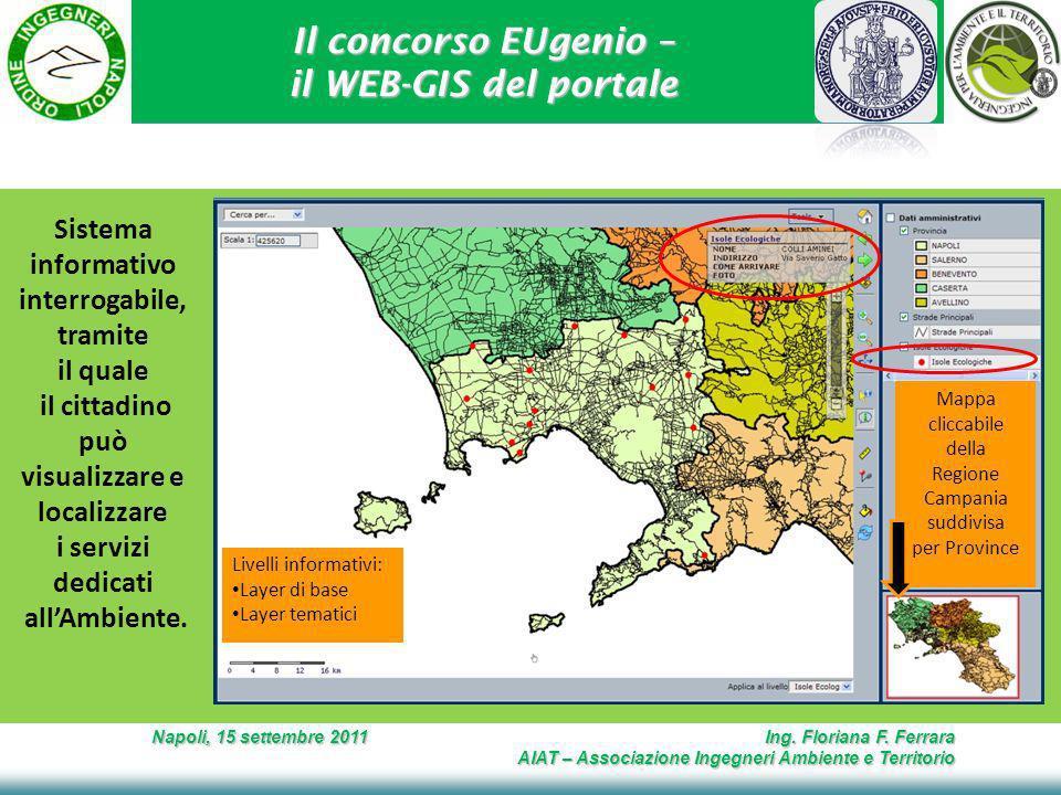 Il concorso EUgenio – il WEB-GIS del portale Napoli, 15 settembre 2011 Ing.
