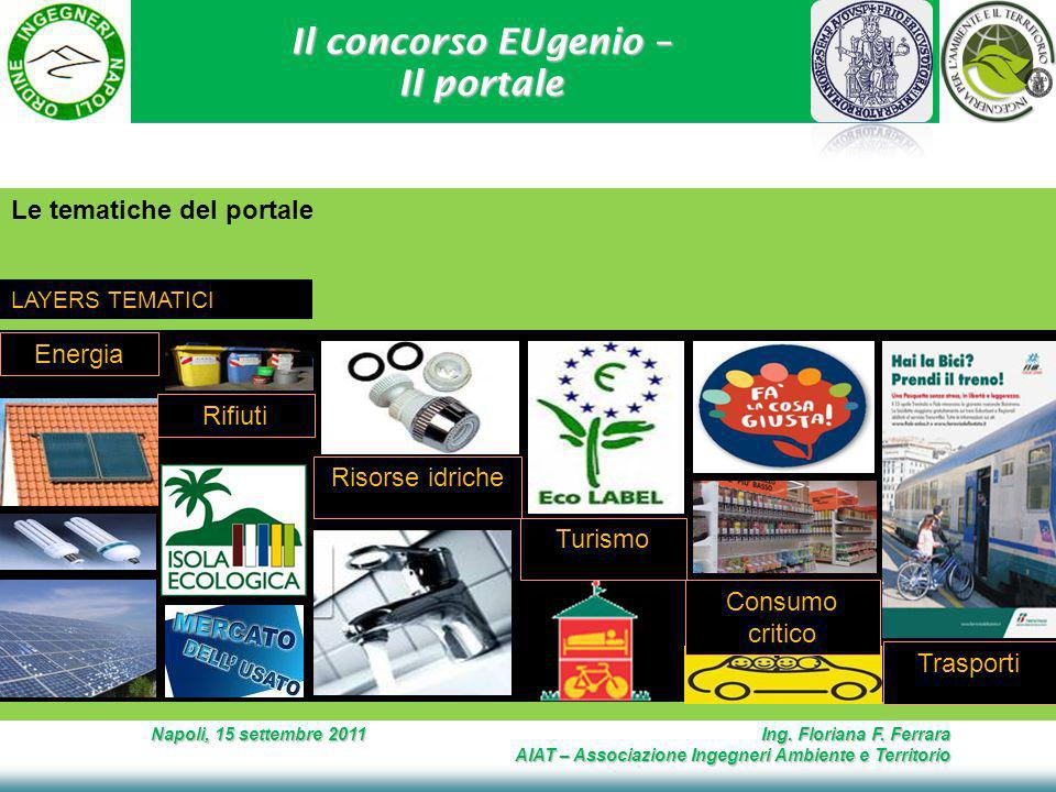 Il concorso EUgenio – Il portale Napoli, 15 settembre 2011 Ing.