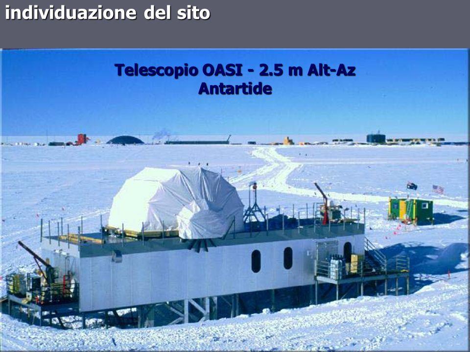 individuazione del sito Telescopio OASI - 2.5 m Alt-Az Antartide