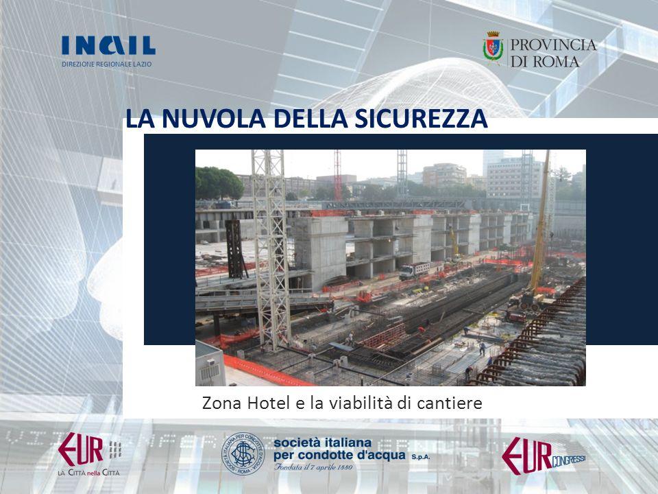 DIREZIONE REGIONALE LAZIO LA NUVOLA DELLA SICUREZZA Zona Hotel e la viabilità di cantiere