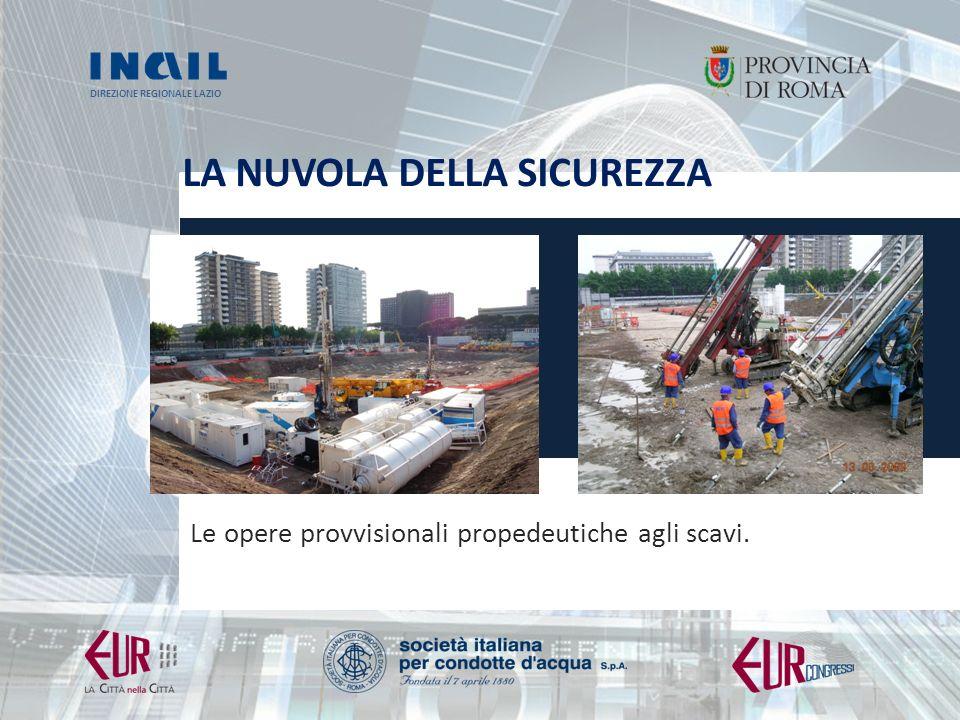 DIREZIONE REGIONALE LAZIO LA NUVOLA DELLA SICUREZZA Le opere provvisionali propedeutiche agli scavi.