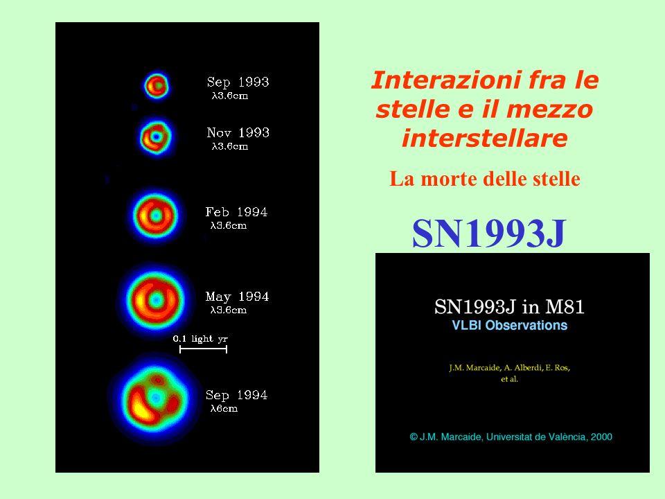 Interazioni fra le stelle e il mezzo interstellare La morte delle stelle SN1993J