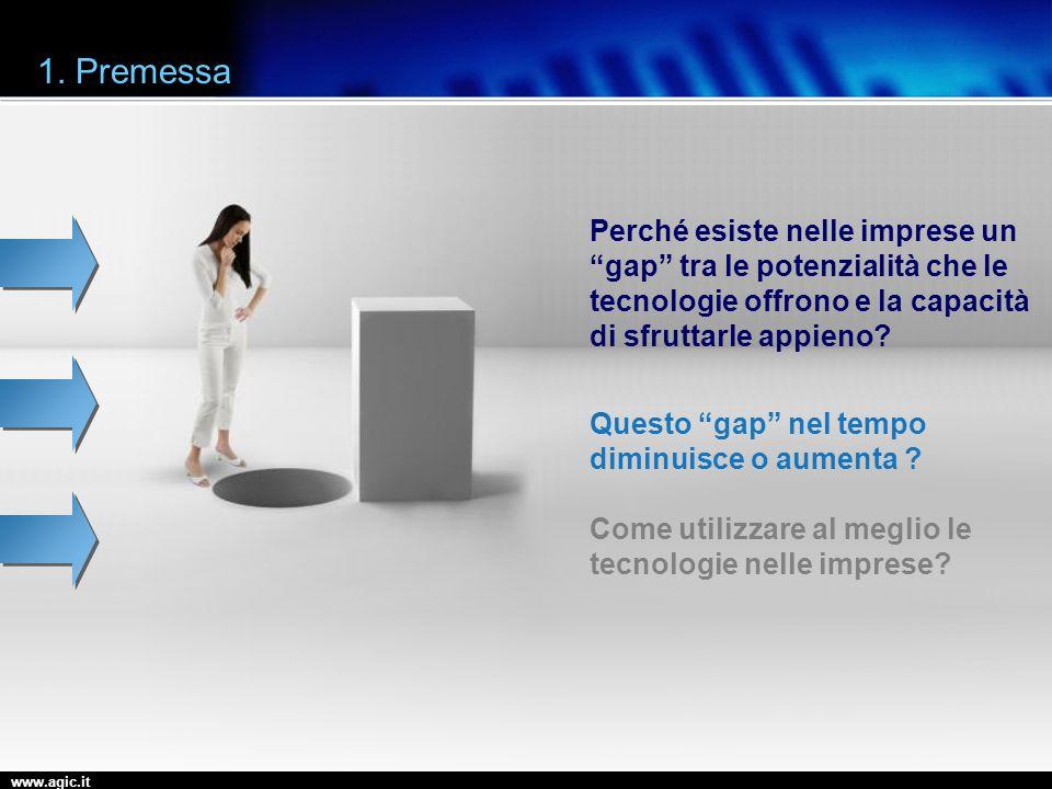 www.agic.it 1. Premessa Perché esiste nelle imprese un gap tra le potenzialità che le tecnologie offrono e la capacità di sfruttarle appieno? Questo g