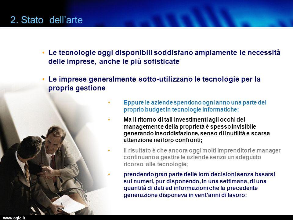 www.agic.it 2. Stato dellarte Le tecnologie oggi disponibili soddisfano ampiamente le necessità delle imprese, anche le più sofisticate Le imprese gen