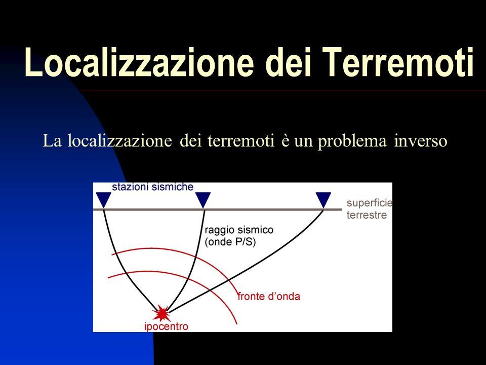 Localizzazione dei Terremoti La localizzazione dei terremoti è un problema inverso