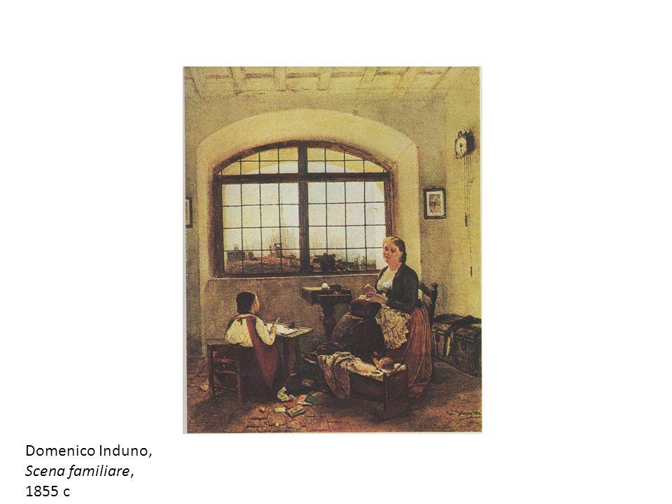 Domenico Induno, Scena familiare, 1855 c