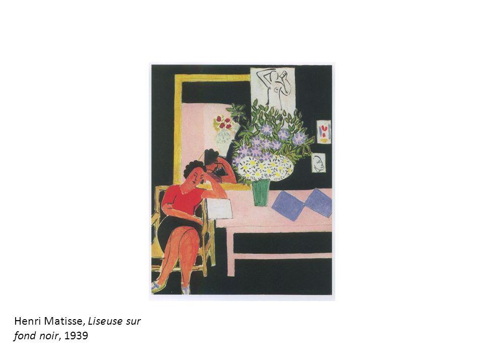 Henri Matisse, Liseuse sur fond noir, 1939