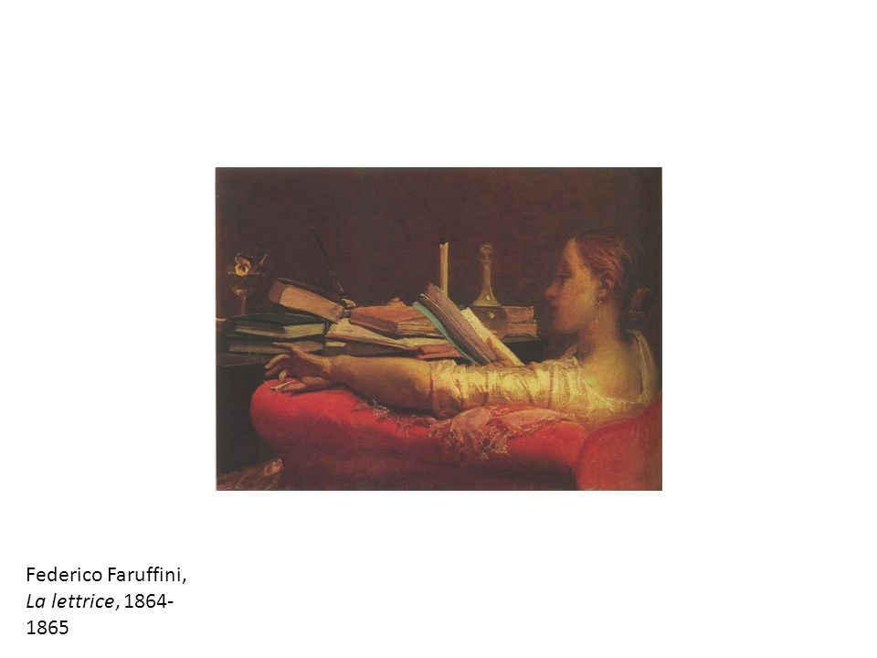 Federico Faruffini, La lettrice, 1864- 1865