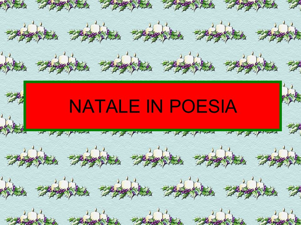 NATALE IN POESIA