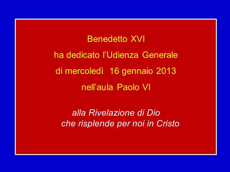 Proprio allinizio dellanno, il 1° gennaio, abbiamo ascoltato, nella liturgia, la bellissima preghiera di benedizione sul popolo: «Ti benedica il Signore e ti custodisca.