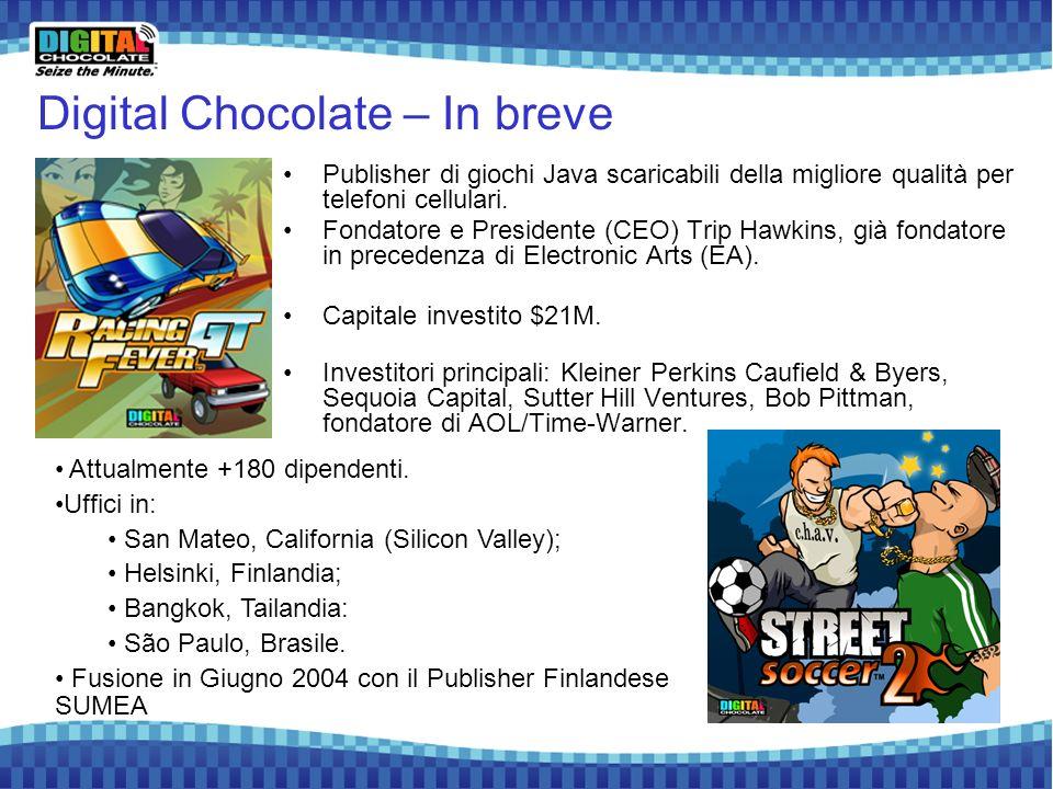2 Digital Chocolate – In breve Publisher di giochi Java scaricabili della migliore qualità per telefoni cellulari. Fondatore e Presidente (CEO) Trip H
