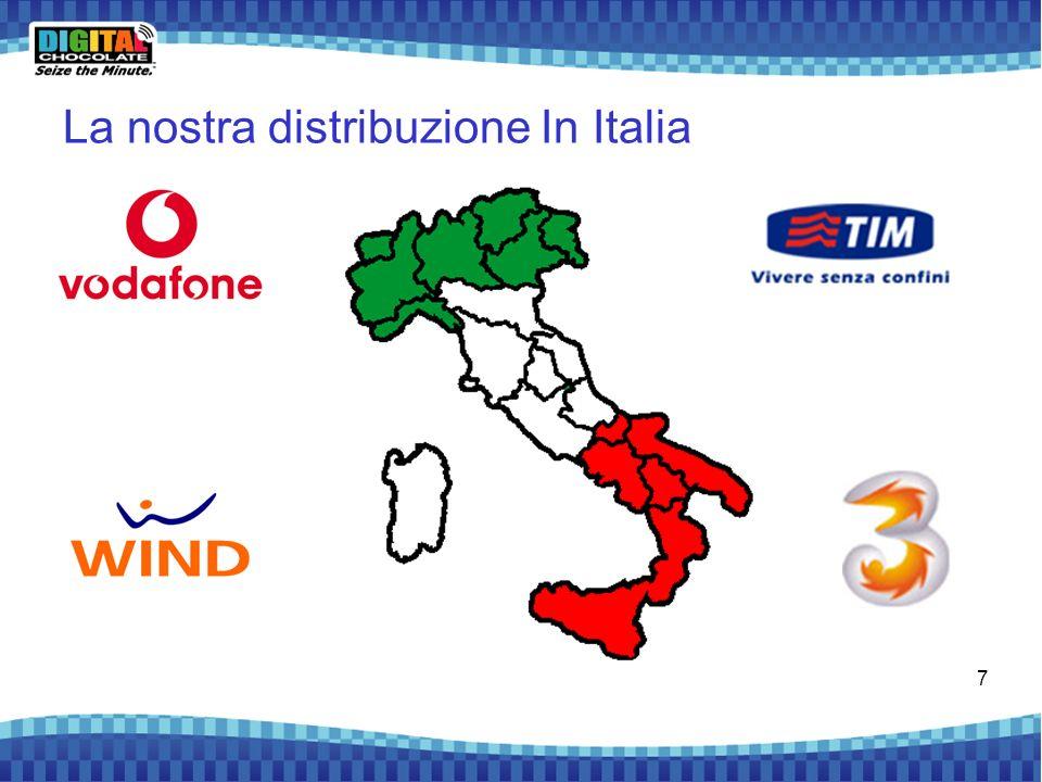 7 La nostra distribuzione In Italia