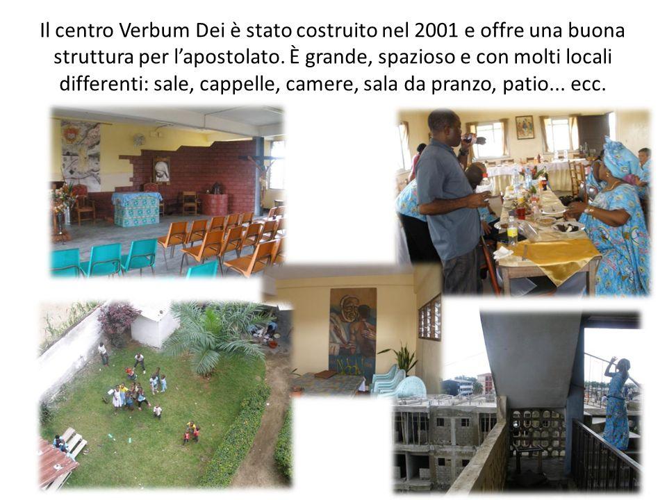 Il centro Verbum Dei è stato costruito nel 2001 e offre una buona struttura per lapostolato. È grande, spazioso e con molti locali differenti: sale, c