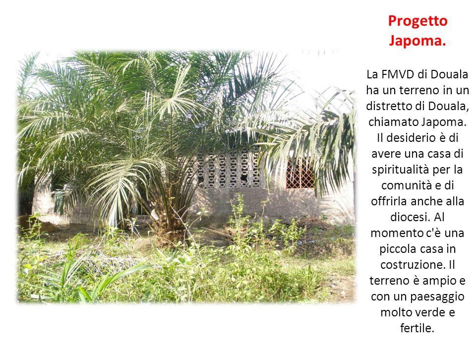 Progetto Japoma. La FMVD di Douala ha un terreno in un distretto di Douala, chiamato Japoma. Il desiderio è di avere una casa di spiritualità per la c