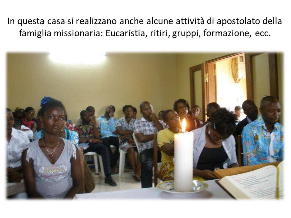 In questa casa si realizzano anche alcune attività di apostolato della famiglia missionaria: Eucaristia, ritiri, gruppi, formazione, ecc.