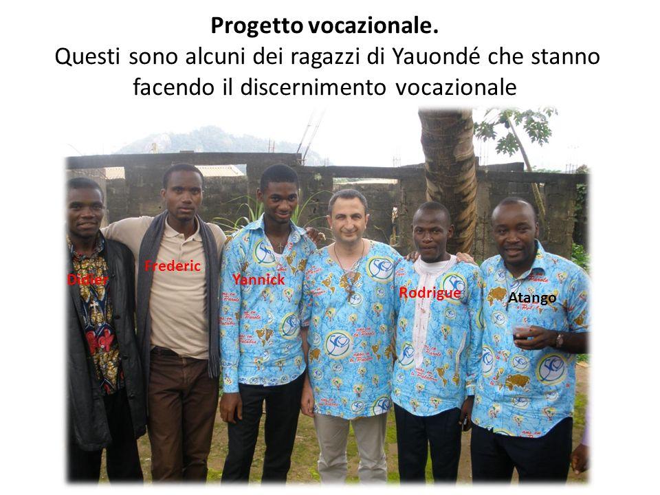Progetto vocazionale. Questi sono alcuni dei ragazzi di Yauondé che stanno facendo il discernimento vocazionale Frederic Yannick Rodrigue Didier Atang