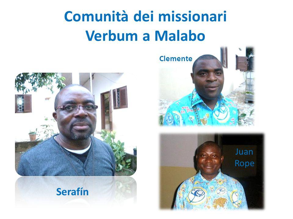 Comunità dei missionari Verbum a Malabo Serafín Juan Rope Clemente