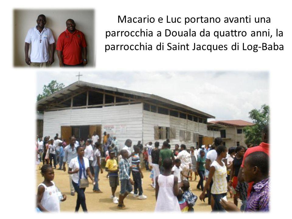 Macario e Luc portano avanti una parrocchia a Douala da quattro anni, la parrocchia di Saint Jacques di Log-Baba