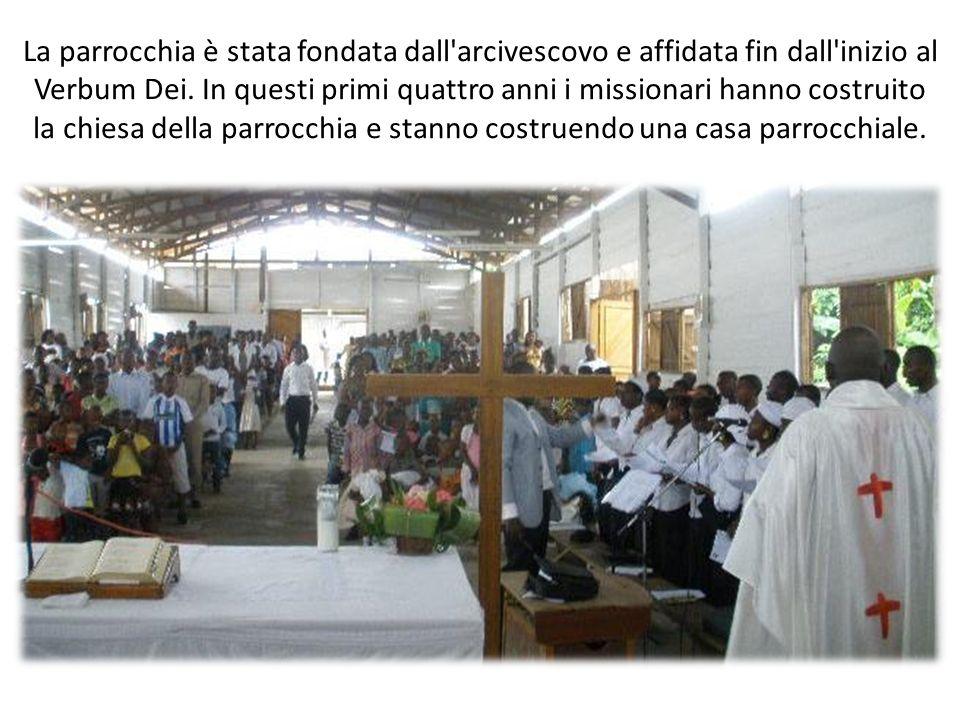 La parrocchia è stata fondata dall'arcivescovo e affidata fin dall'inizio al Verbum Dei. In questi primi quattro anni i missionari hanno costruito la