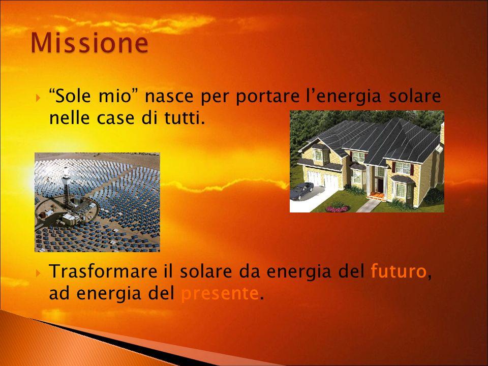 Sole mio nasce per portare lenergia solare nelle case di tutti.
