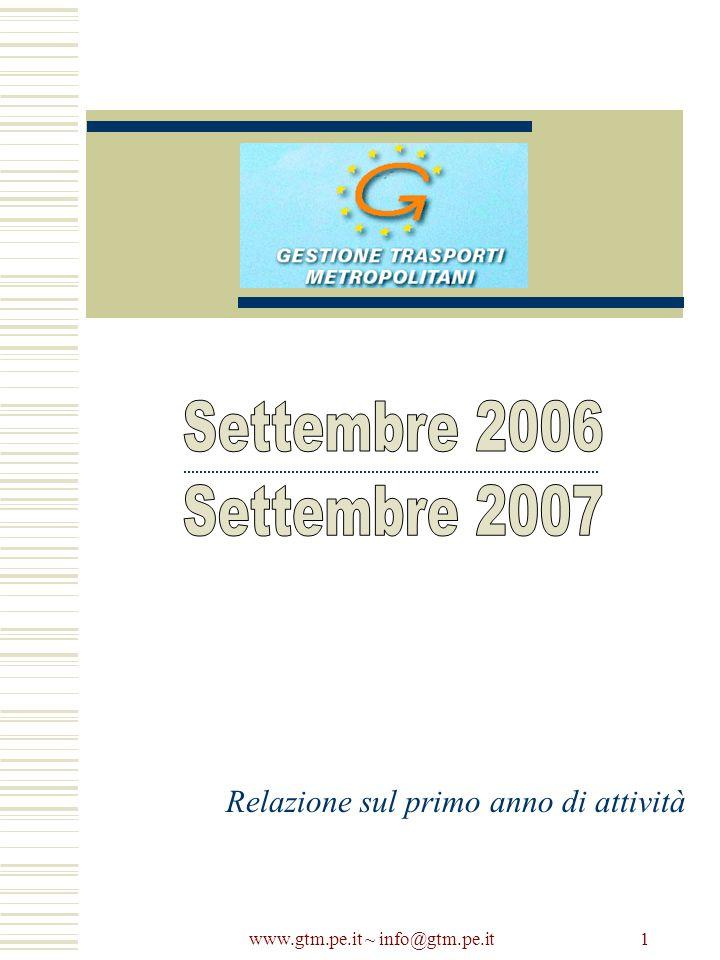 www.gtm.pe.it ~ info@gtm.pe.it 1 Relazione sul primo anno di attività