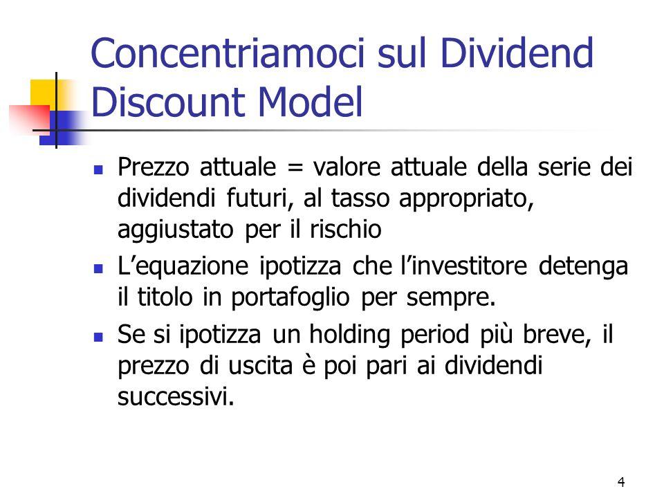 5 Necessità di un modello semplificato Lequazione prima introdotta non è molto pratica.