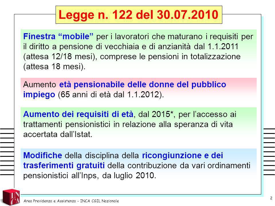 Coloro che perfezionano i requisiti anagrafici e/o contributivi richiesti per il diritto alla pensione di vecchiaia e di anzianità (anche in regime di totalizzazione) entro il 31.12.2010.