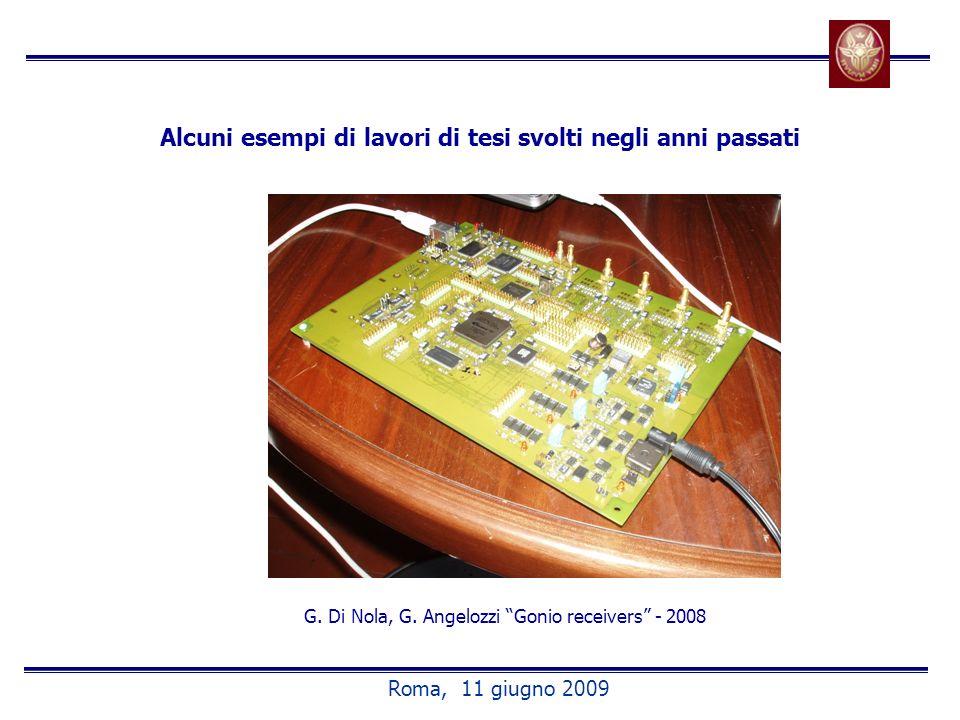 Alcuni esempi di lavori di tesi svolti negli anni passati G. Di Nola, G. Angelozzi Gonio receivers - 2008 Roma, 11 giugno 2009