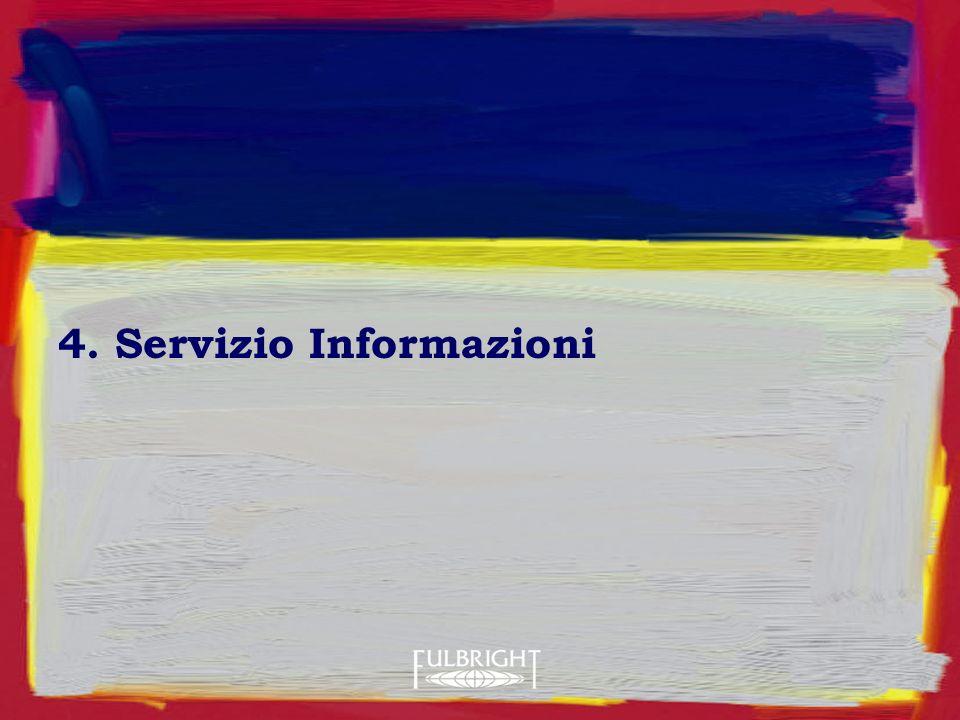 4. Servizio Informazioni