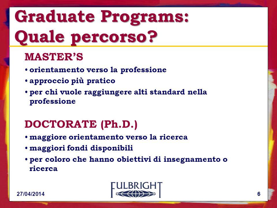 6 Graduate Programs: Quale percorso.