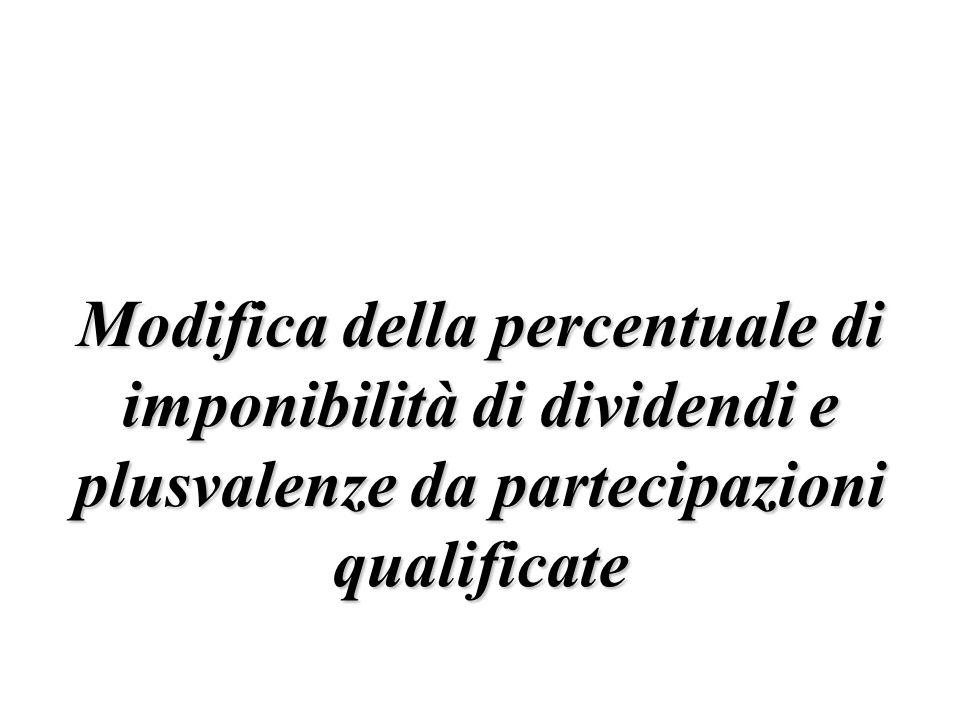 § Requisiti soggettivi: soggetto imprenditore individuale.