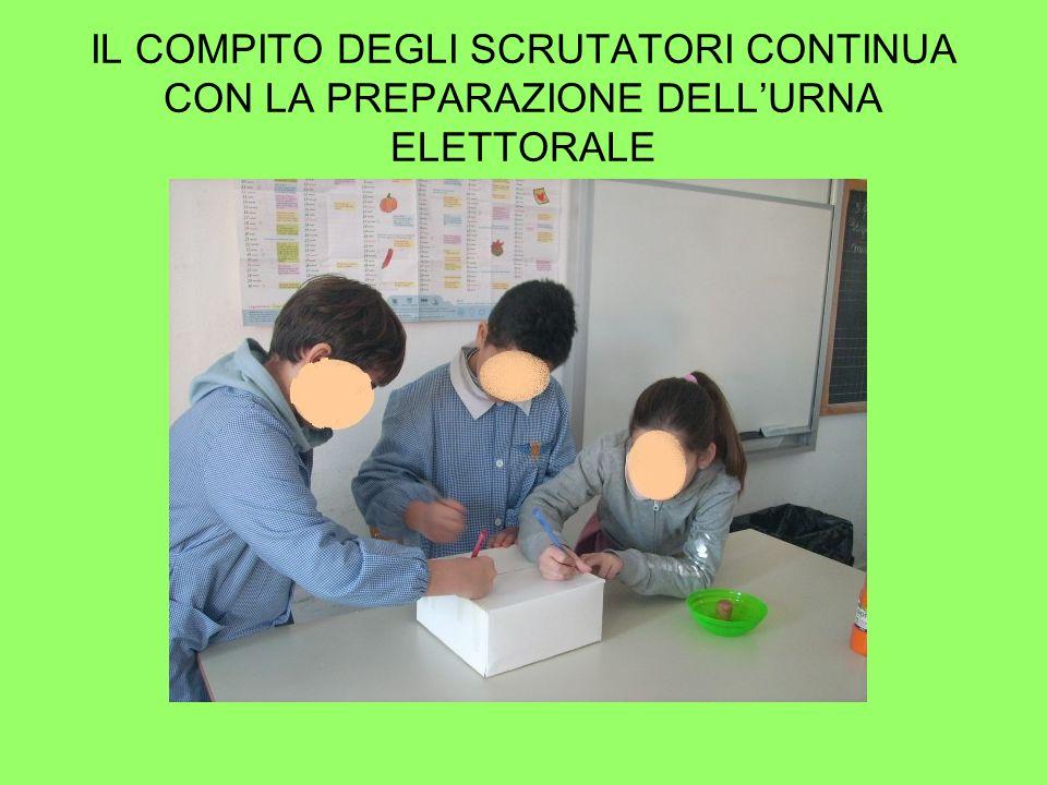 IL COMPITO DEGLI SCRUTATORI CONTINUA CON LA PREPARAZIONE DELLURNA ELETTORALE