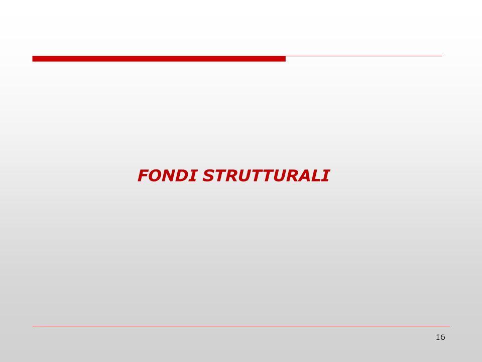 16 FONDI STRUTTURALI
