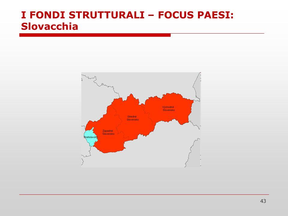 43 I FONDI STRUTTURALI – FOCUS PAESI: Slovacchia