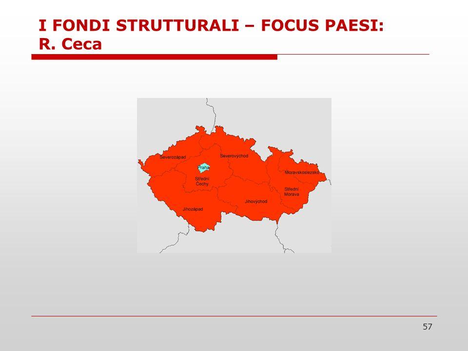 57 I FONDI STRUTTURALI – FOCUS PAESI: R. Ceca
