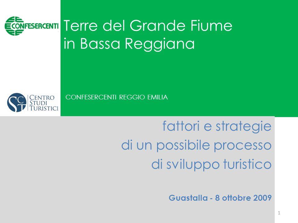 Terre del Grande Fiume in Bassa Reggiana CONFESERCENTI REGGIO EMILIA fattori e strategie di un possibile processo di sviluppo turistico Guastalla - 8