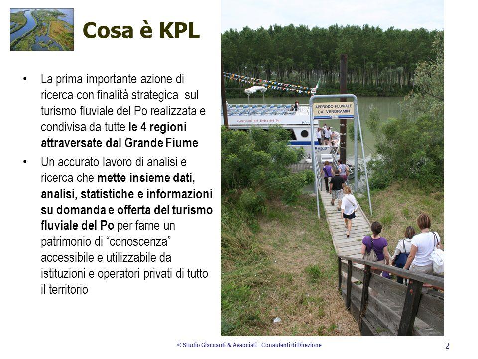© Studio Giaccardi & Associati - Consulenti di Direzione 2 Cosa è KPL La prima importante azione di ricerca con finalità strategica sul turismo fluvia